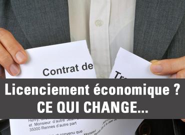 licenciement économique ce qui change